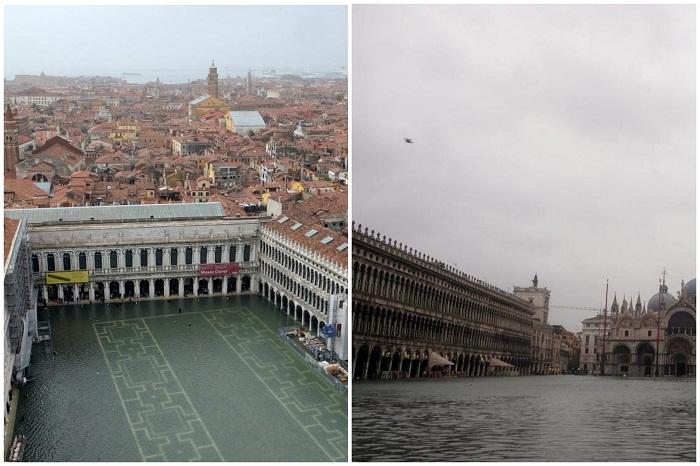 Венеция с каждым часом все больше уходит под воду.