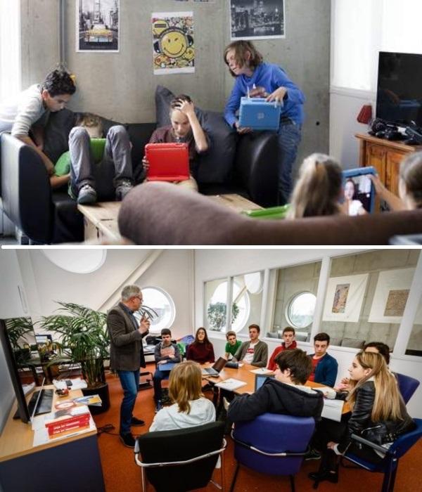 Увлеченные учащиеся создают группы по интересам и приглашают профессионалов для получения дополнительной информации (Agora College, Нидерланды). | Фото: watbezieltons.nu.