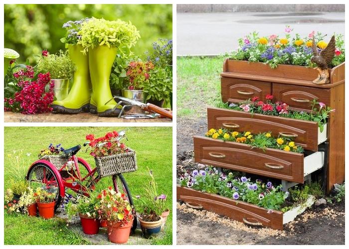 Цветы и пряные травы можно выращивать в чем угодно, было бы желание.