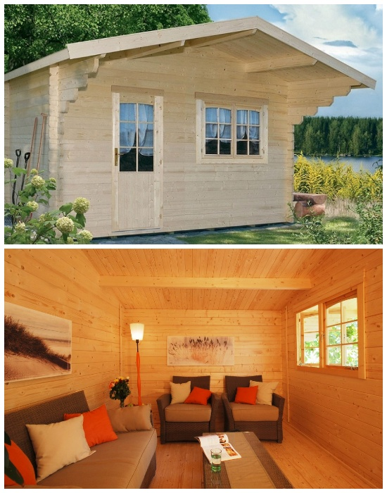 Allwood Kit Cabin Lillevilla Escape - прекрасный вариант для уединенного отдыха на природе. | Фото: allwoodoutlet.com.