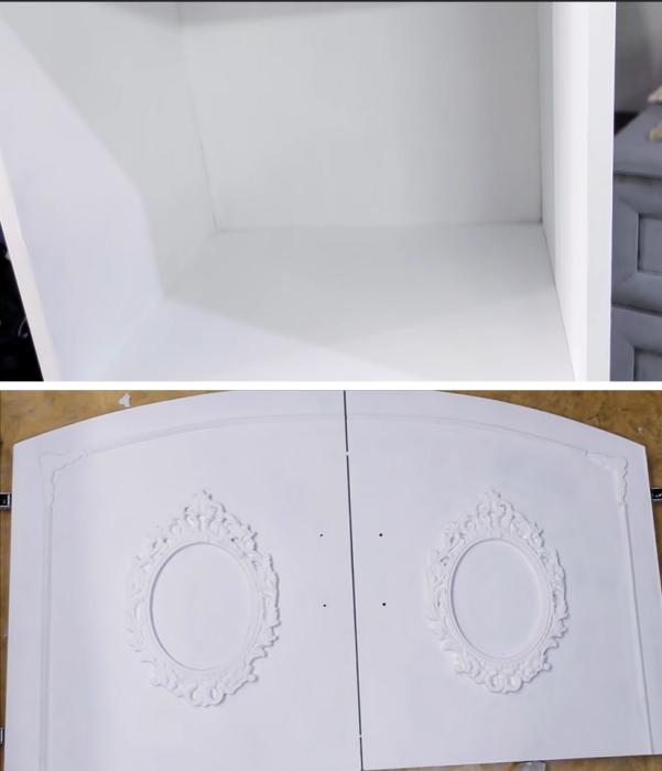 Краску следует наносить в 3 слоя и тщательно прокрашивать даже внутренние поверхности. | Фото: youtube.com/ © DrujkaLena.