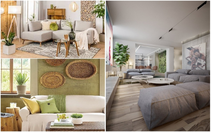 Элегантный эко-стиль одинаково хорошо смотрится и на даче, и в городской квартире.