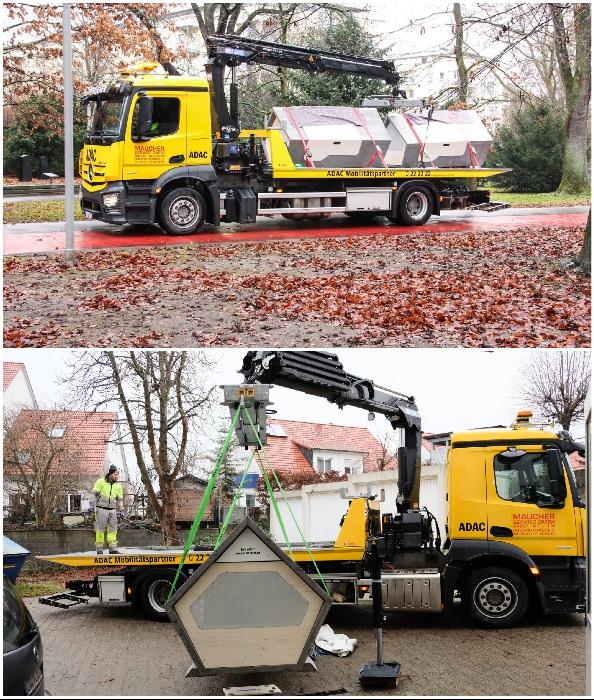 Спальные капсулы можно доставить в любую точку города и с помощью манипулятора установить за несколько минут (Ulmer Nester, Германия).
