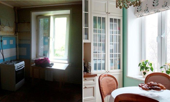 Спокойная цветовая палитра и белая мебель создают иллюзию простора. | Фото: realty.mail.ru.