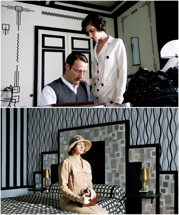 Даже «киношные» апартаменты Коко Шанель  считаются образцом для подражания (фрагмент фильма «Коко Шанель и Игорь Стравинский»). | Фото: westwing.ru.