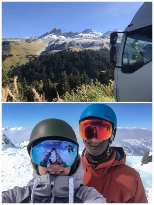 Ребята уже провели зиму в своем доме на колесах в Альпах.