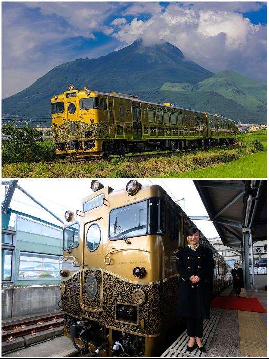 Туристический состав «Aru Ressha» – один из самых роскошных экскурсионных поездов Японии. | Фото: japanstation.com/ fukuoka-now.com.