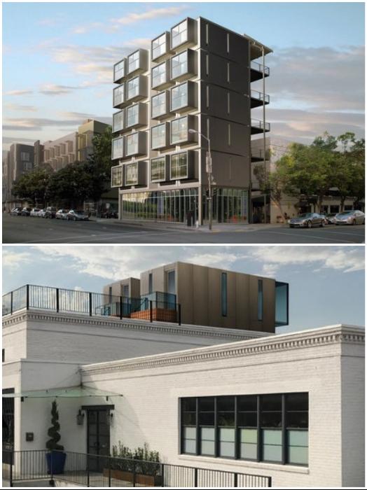 При желании крошечные смарт-дома «Kasita» можно брать за основу создания многоэтажных домов или располагать их на крышах.   Фото: blog.archiball.ru.