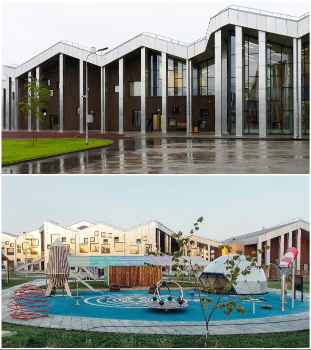 В Иркутске открыли школу будущего, в которой есть не только детский сад, но и коттеджи для многодетных («Точка будущего»).