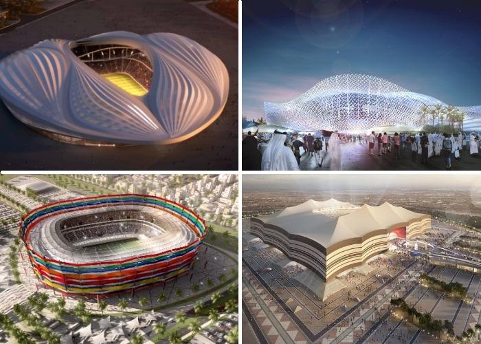 В дизайне гигантских футбольных арен, возведенных для ЧМ-2022, нашли свое отражение вполне узнаваемые образы.