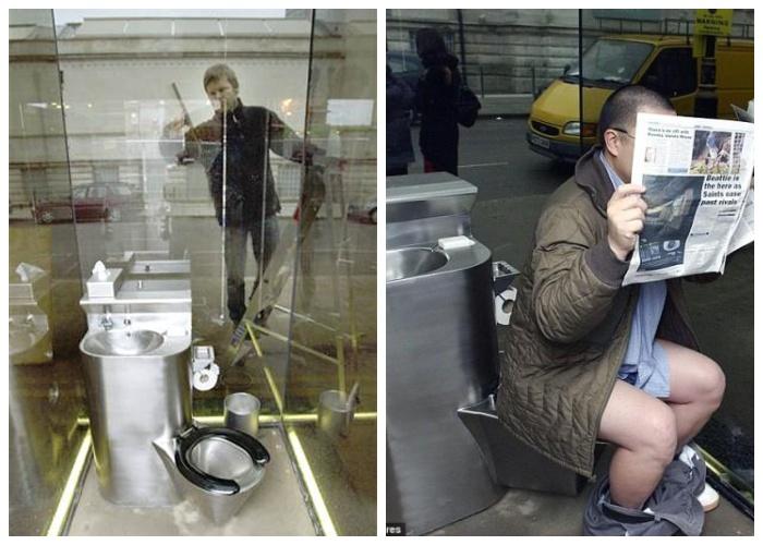 Интересные свойства зеркального туалета «Не упусти ни минуты» (Лондон, Великобритания).