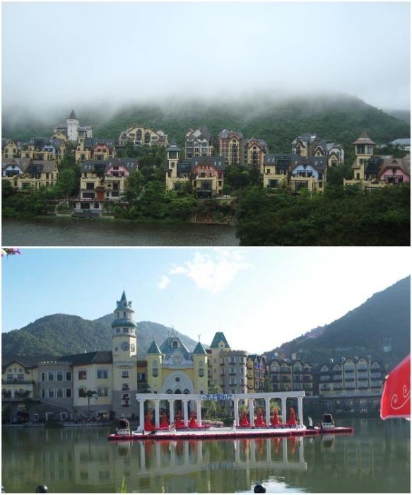 «Overseas Chinese Town East» – это живописное место, ставшее популярной достопримечательностью (Шэньчжэнь, Китай). | Фото: chinafacttours.com.
