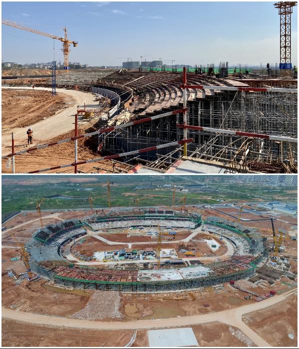 В скором времени эта конструкция повторит очертания визуализации, созданной компанией MAD Architects («Quzhou Sports Park»). | Фото: newatlas.com/ © MAD Architects.