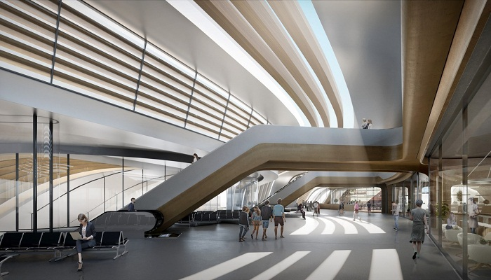 Футуристический дизайн Балтийского терминала Юлемисте (Таллин, визуализация вокзала). | Фото: newatlas.com.