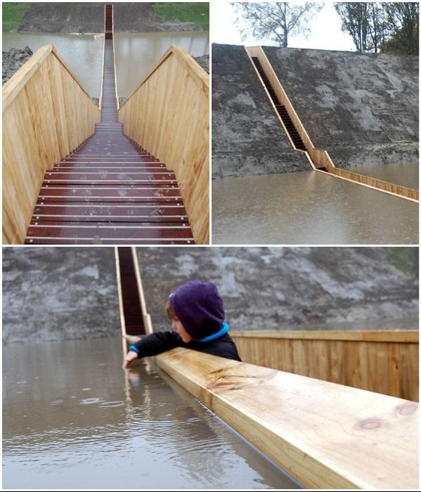 Для создания конструкции моста использовалась акойя, древесину которой называют «титаном» из-за ее особой прочности и устойчивости к различным воздействиям. | Фото: expostroy.ru.