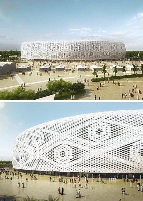 Al Thumama Stadium новый стадион, возводимый в столице Катара (Доха). | Фото: stadiums.at.ua.
