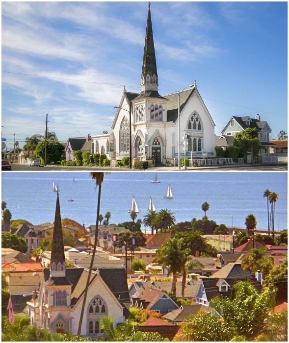 Месторасположение церкви Святого Джона предопределила новую сферу деятельности в помещении старинного религиозного объекта (Вентура, Калифорния).
