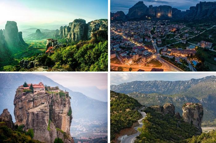 Невероятный ландшафт окружающей местности (Каламбака, Греция).