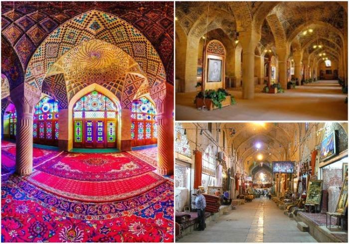 Завораживающая красота «Радужной мечети» привлекает много туристов (Nasir al-Mulk, Иран). | Фото: journal.homemania.ru.