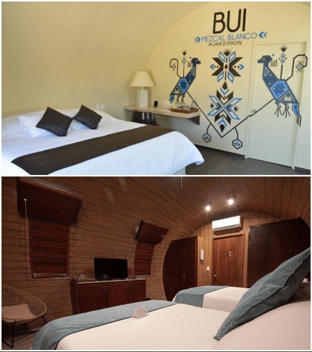 Уютные номера, расположенные в бочках, рассчитаны на двух-четырех гостей («Matices Hotel de Barricas», Мексика). | Фото: tequilacofradia.com.mx/ mymodernmet.com.