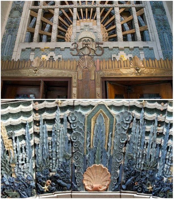 Небесно-голубой фасад здания украшают декоративные элементы в форме морских обитателей (Ванкувер, Канада). | Фото: tripadvisor.ie.