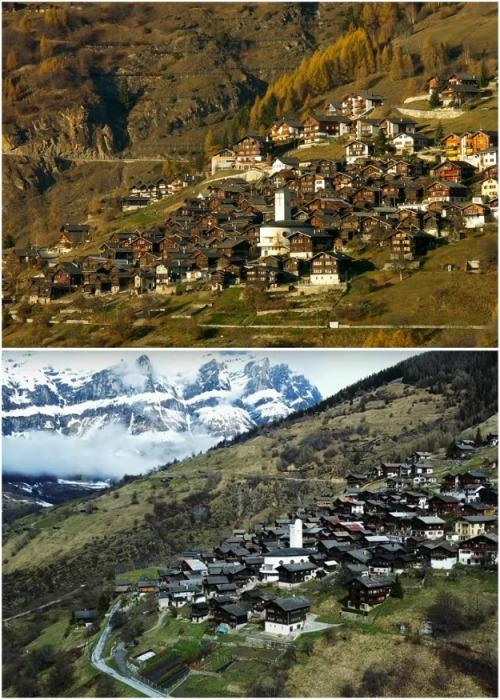 На данный момент уже очень много домов заброшены или служат в роли дачи (Альбинен, Швейцария). | Фото: liveinternet.ru.