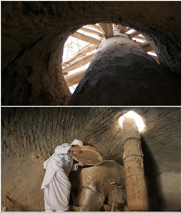 Как выглядит ветряная мельница изнутри (Nashtifan, Иран). | Фото: silksifandrahil.tumblr.com/ historicaliran.blogspot.com.