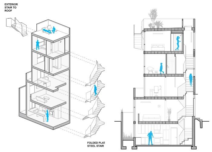 План-чертеж уникального проекта Tiny Tower (Проект архитектурного бюро ISA.