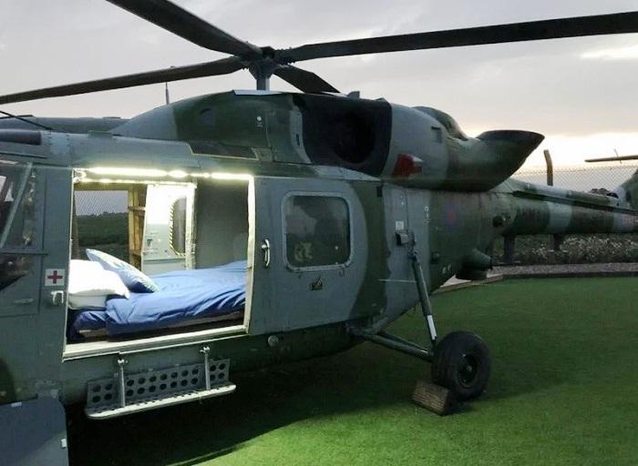 На преобразование вертолета Westland Lynx XZ262 в гостиничный номер ушло 6 месяцев и 30 тысяч долларов. | Фото: warhistoryonline.com.
