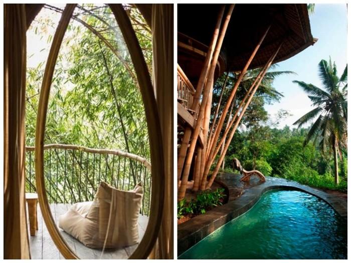 Прекрасное место и необычные номера сделают отдых незабываемым (Aura House, о. Бали). | Фото: pinterest.com/ 10.aeccafe.com.