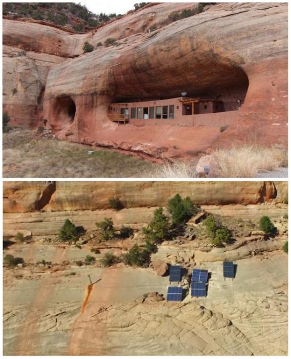 Дом в скале Cliff Haven имеет автономные системы жизнеобеспечения (штат Юта, США). | Фото: youtube.com/ narr8 media.