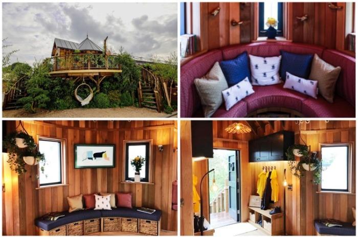 Домик на дереве стал самым интересным и обсуждаемым объектом на выставке цветов RHS в Англии. | Фото: vzavtra.net.