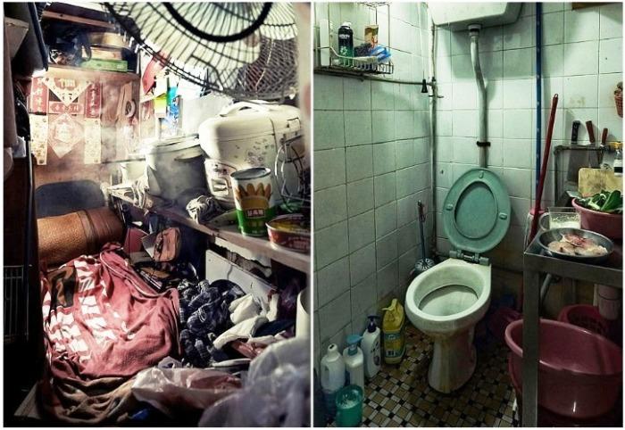 Даже такие «благоустроенные» квартиры могут позволить не все («coffin homes», Гонконг). | Фото: nafanko.livejournal.com/ © Benny Lam.