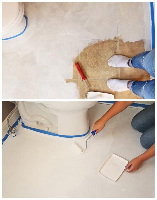 Чтобы пол получился ровный, его нужно прогрунтовать несколько раз. | Фото: youtube.com.