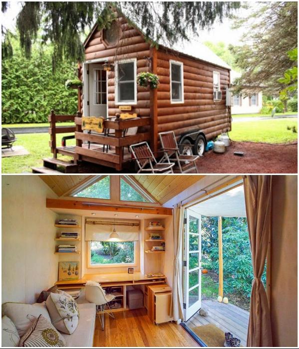 Крошечный домик – мечта для любителей уединения на лоне природы. | Фото: brainsly.net/ 4tololo.ru.