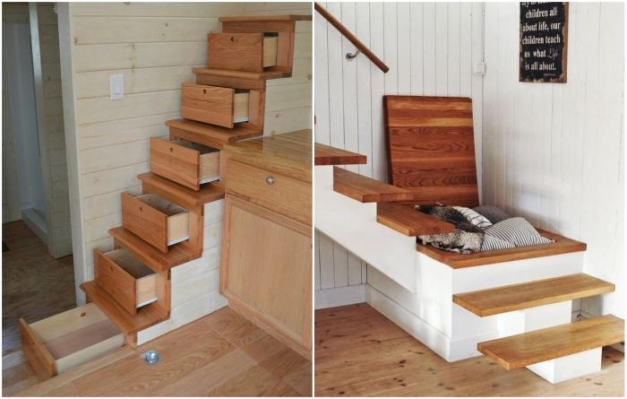Тот случай, когда владельцы жилья используют каждый миллиметр пространства.| Фото:  demiandashton.org/ pinterest.com.au.
