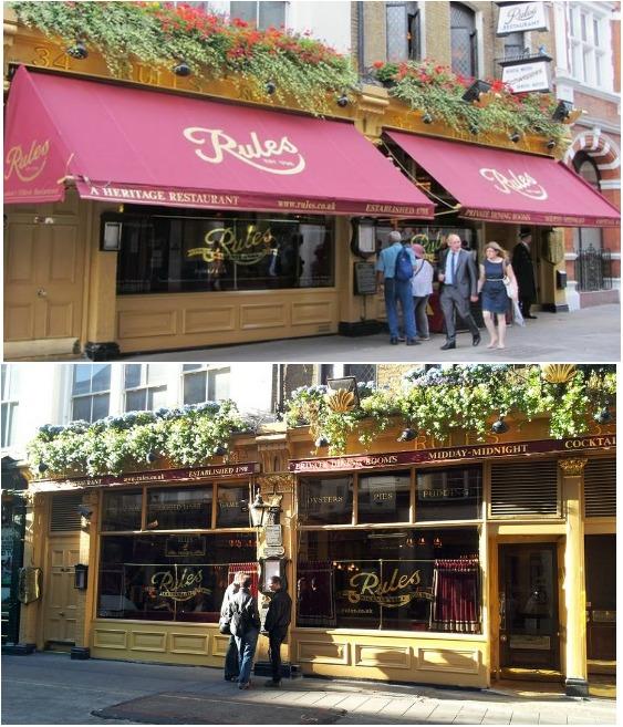 Rules Restaurant в Лондоне — колоритный ресторан классической английской кухни (Великобритания).   Фото: ru.esosedi.org.