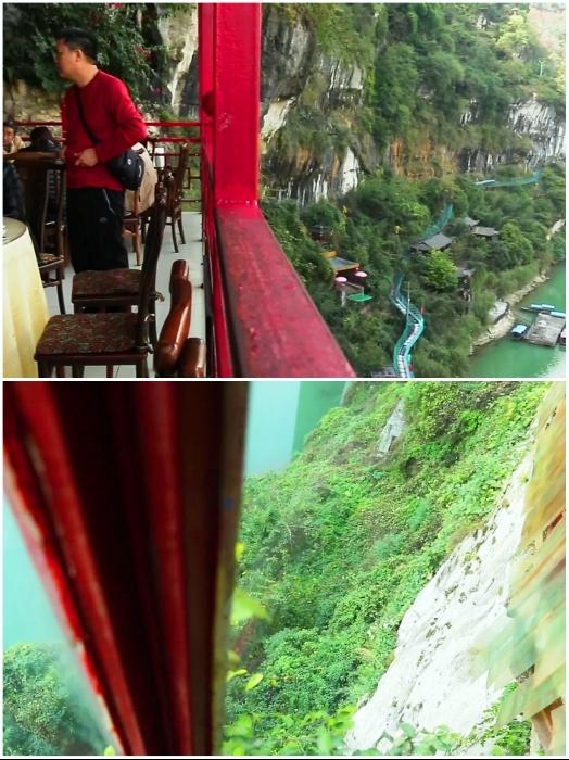 Вид с балкона ресторана не для слабонервных. | Фото: youtube.com, © dailyWOWvideo.