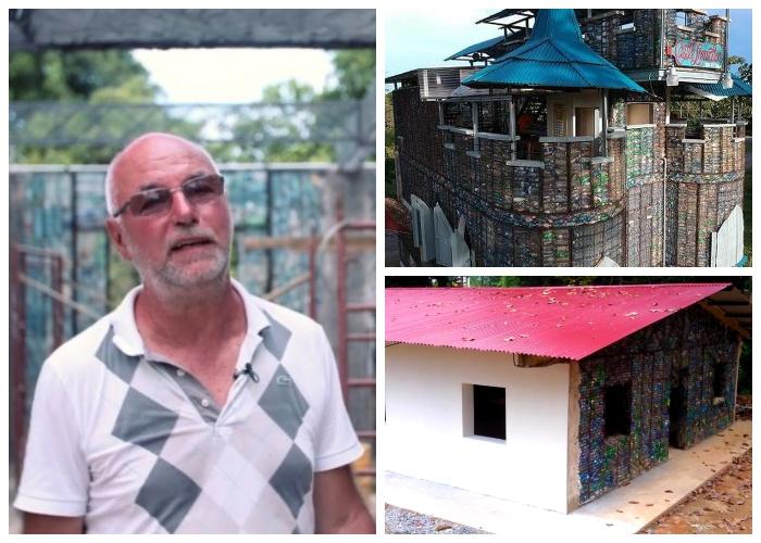 Роберт Безо создал проект, благодаря которому можно избавиться от тонн выброшенного пластика (о. Бокас-дель-Торо, Панама). | Фото: youtube.com.