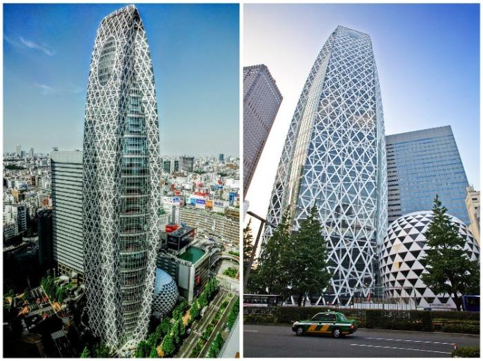 Студенческий городок в виде небоскреба получил название «Гигантский кокон» (Mode Gakuen Cocoon Tower, Япония). | Фото: interestingengineering.com.