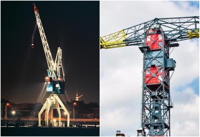 Портовый отель в кабине башенного крана имеет площадь всего лишь 23 кв. м. («Havenkraan Harlingen», Нидерланды).   Фото: khalinsite.wordpress.com/ 4living.ru.