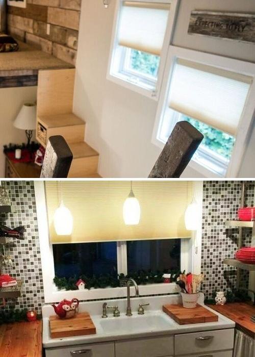Благодаря окнам, установленным на разных уровнях, домик стал светлым и уютным («My Empty Nest»).   Фото: new.neveroyatno.website.