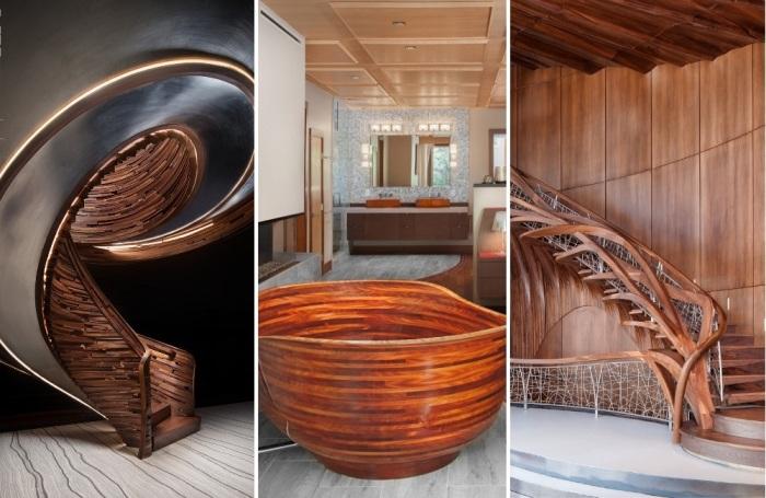 NK Woodworking & Design изготавливает эксклюзивные предметы мебели, ванны и лестницы из натурального дерева. | Фото: nkwoodworking.com.