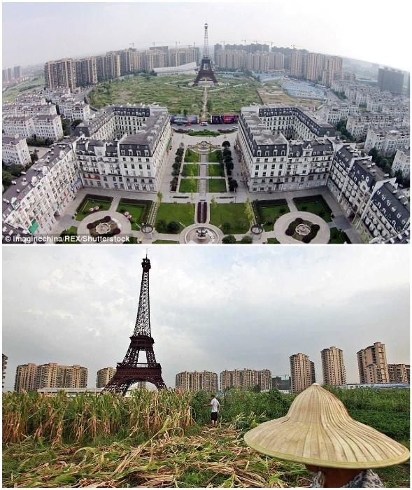 О чем мечтали авторы проекта, и что в итоге получилось (Tianducheng, Китай).