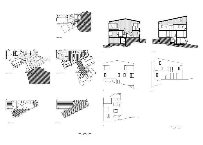 Планировка дома La Dacha, созданного из SIP-панелей (проект DRAA, Чили).
