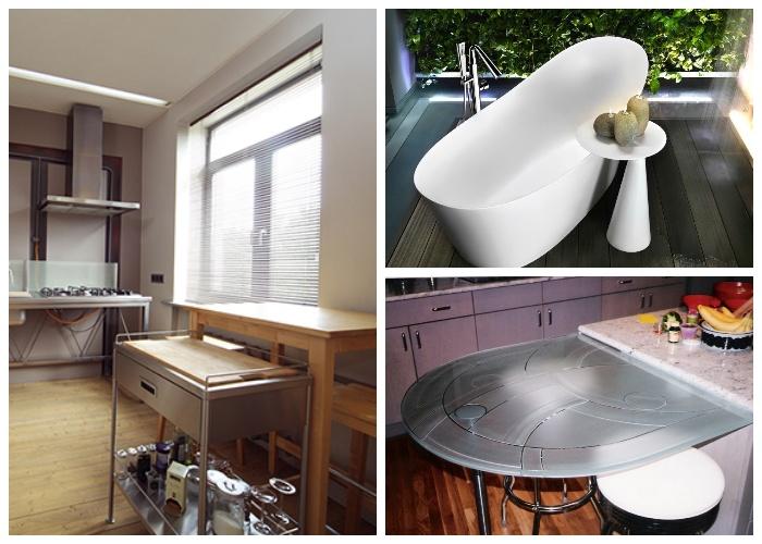 Приставной столик можно поставить где угодно, главное выбрать нужную высоту и качество материала.