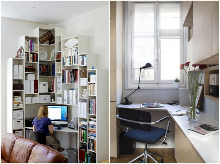 Угловое рабочее место сделает комнату более просторной.| Фото:  housesdesign.ru/ dizainvfoto.ru.