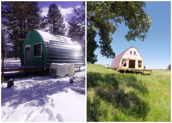 Конструкция арочного дома, созданного фирмой Arched Cabin выдерживает любые климатические условия.