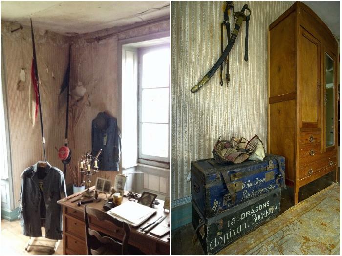 Все, что было дорого сыну, родители собрали в одной комнате и замуровали ее на долгие годы (Белабр, Франция). | Фото: fdra-historia.blogspot.com/ twizz.ru.