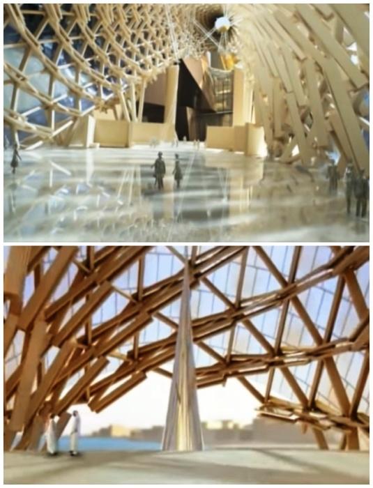 Галерейные ряды различной высоты, формы и характера обеспечивают уникальную гибкость в организации выставок (Guggenheim Abu Dhabi Museum). | Фото: youtube.com.